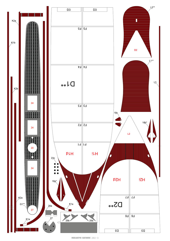 CSS VIRGINIA 1/200 de MODELARSTWO KARTONOWE 615