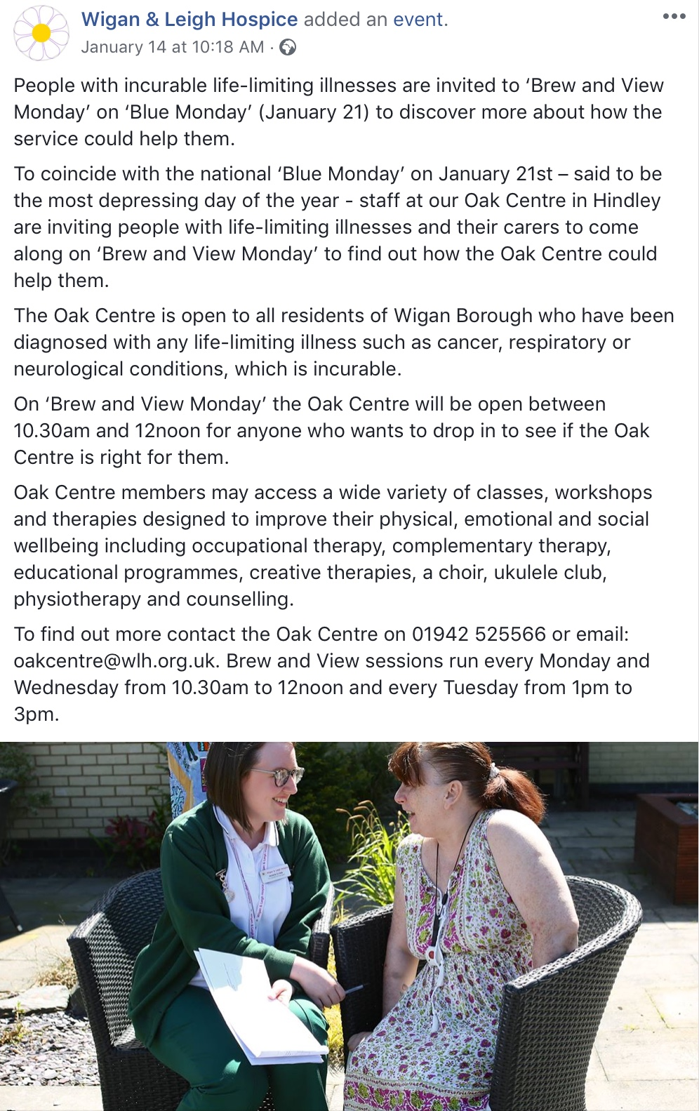 The Oak Centre, Wigan & Leigh Hospice 27356a10