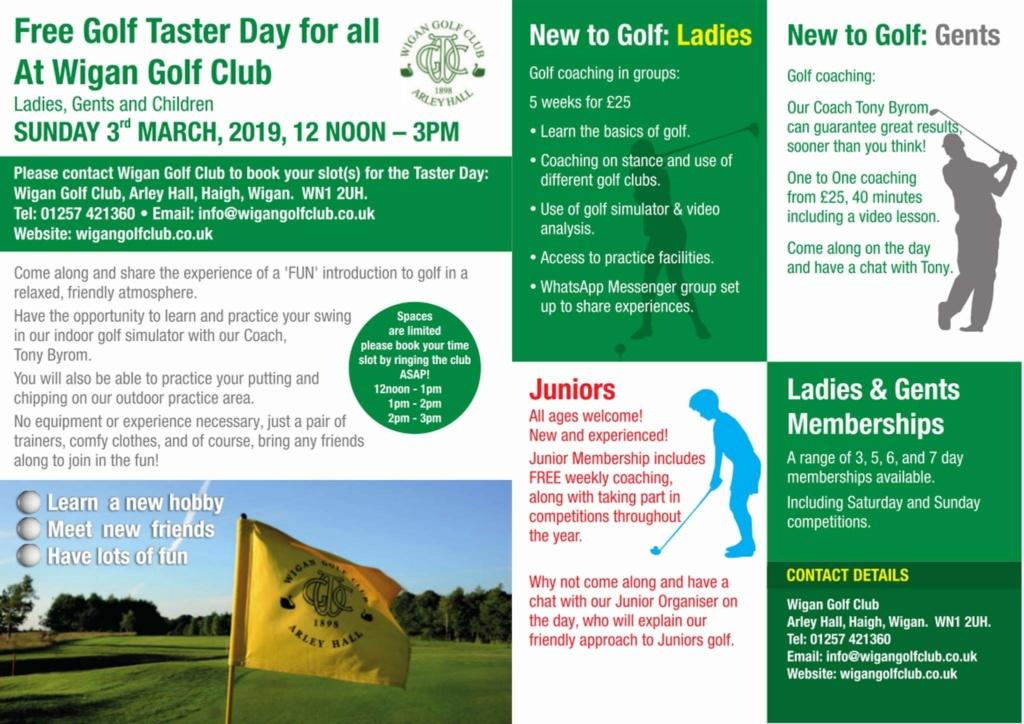 Free Golf Taster Day, Sun 3rd March 50b46110