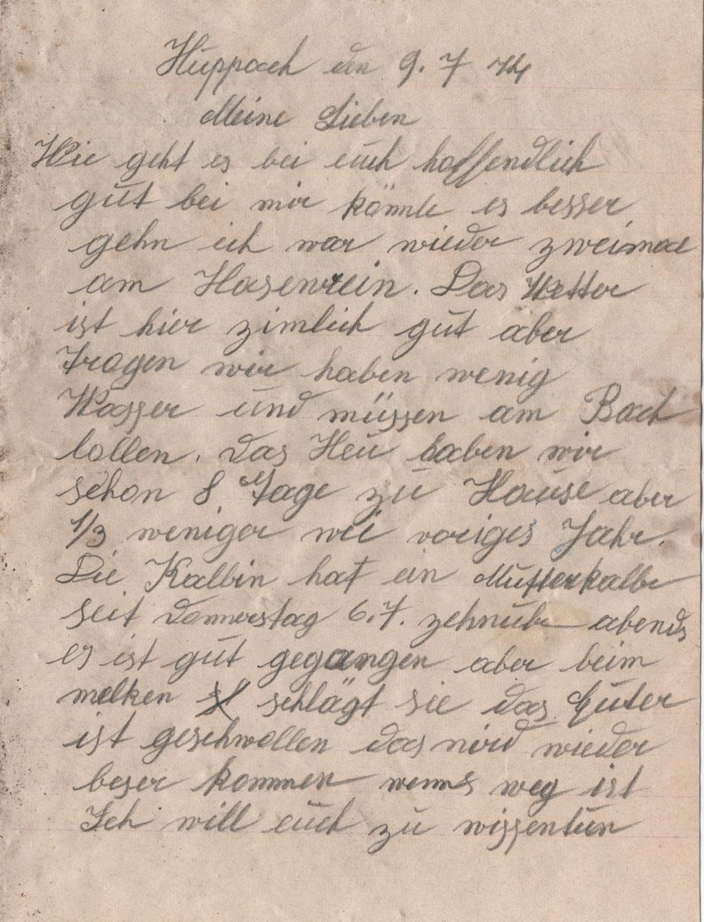 Lettre camp de concentration Landeshut (annexe de Gross Rosen) 110