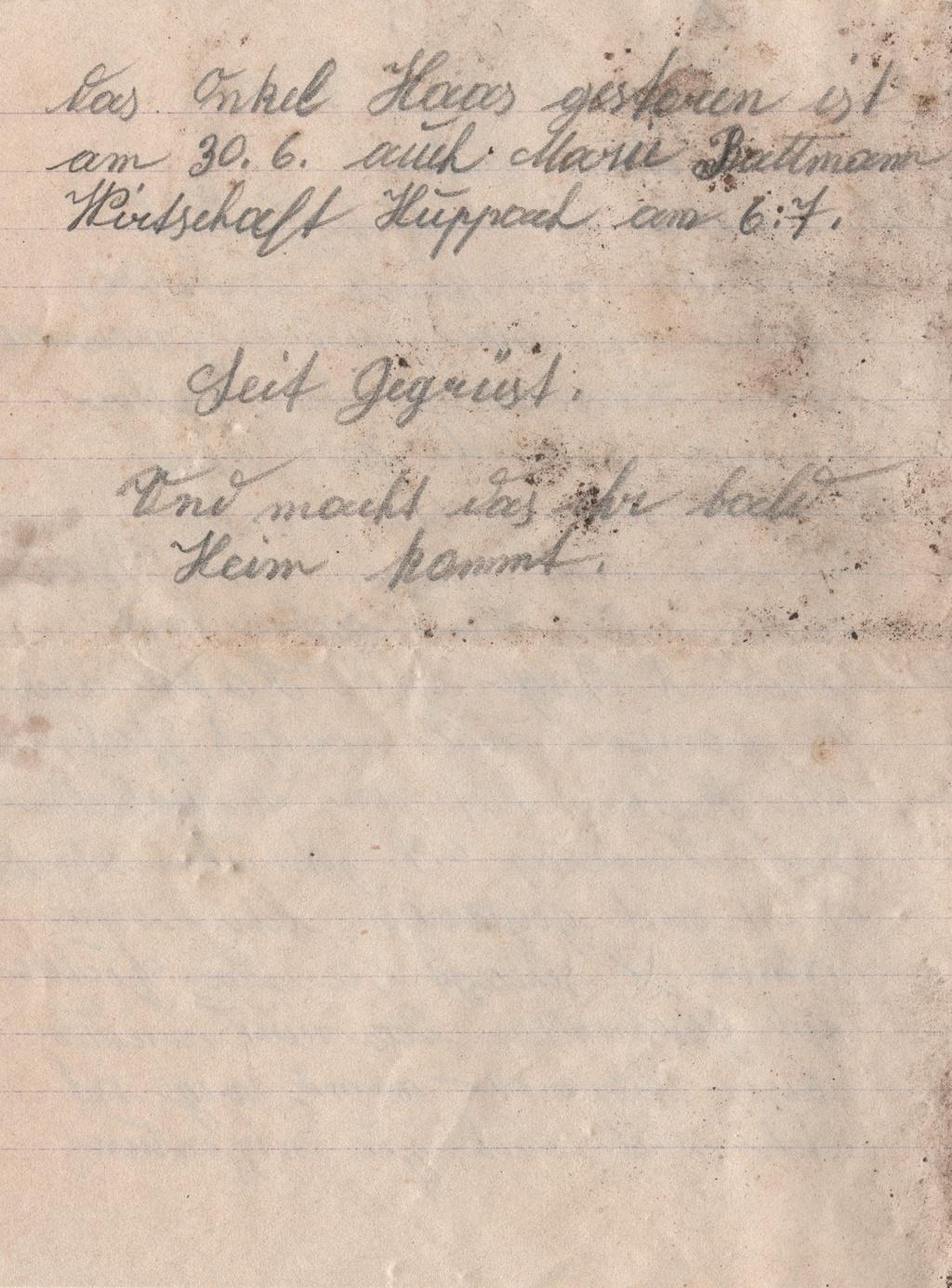 Lettre camp de concentration Landeshut (annexe de Gross Rosen) 210