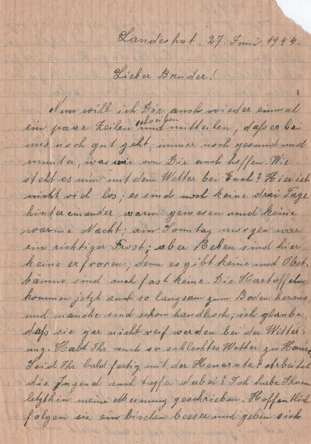 Lettre camp de concentration Landeshut (annexe de Gross Rosen) 310