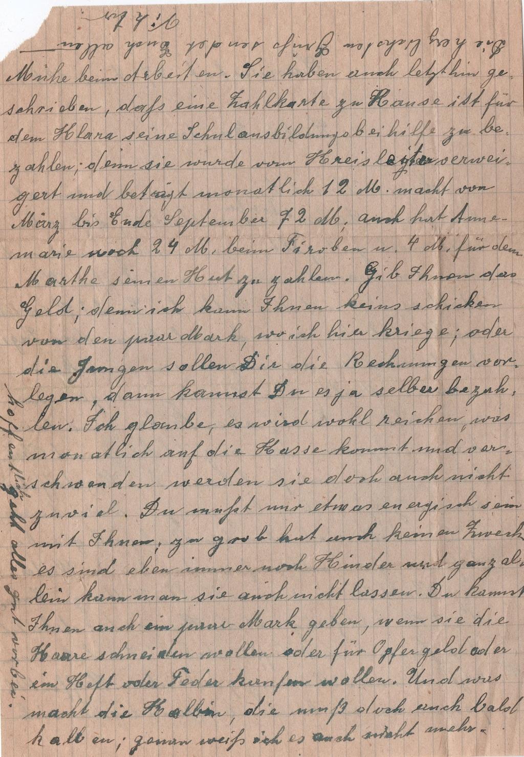 Lettre camp de concentration Landeshut (annexe de Gross Rosen) 510