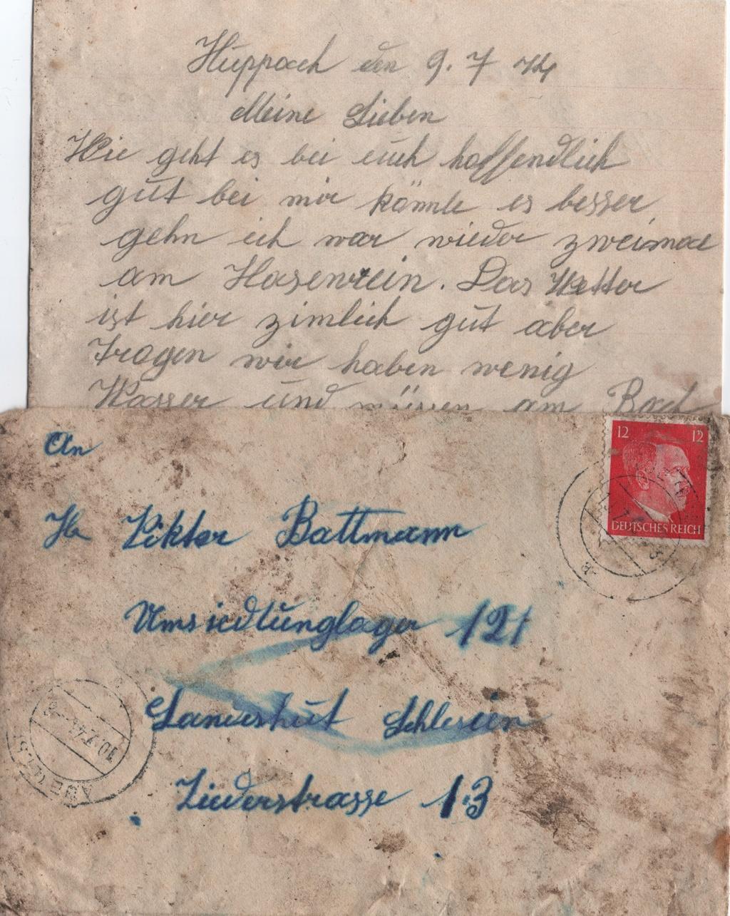 Lettre camp de concentration Landeshut (annexe de Gross Rosen) Numyri10