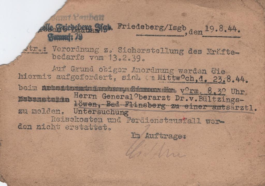 Lettre camp de concentration Landeshut (annexe de Gross Rosen) Numyri11