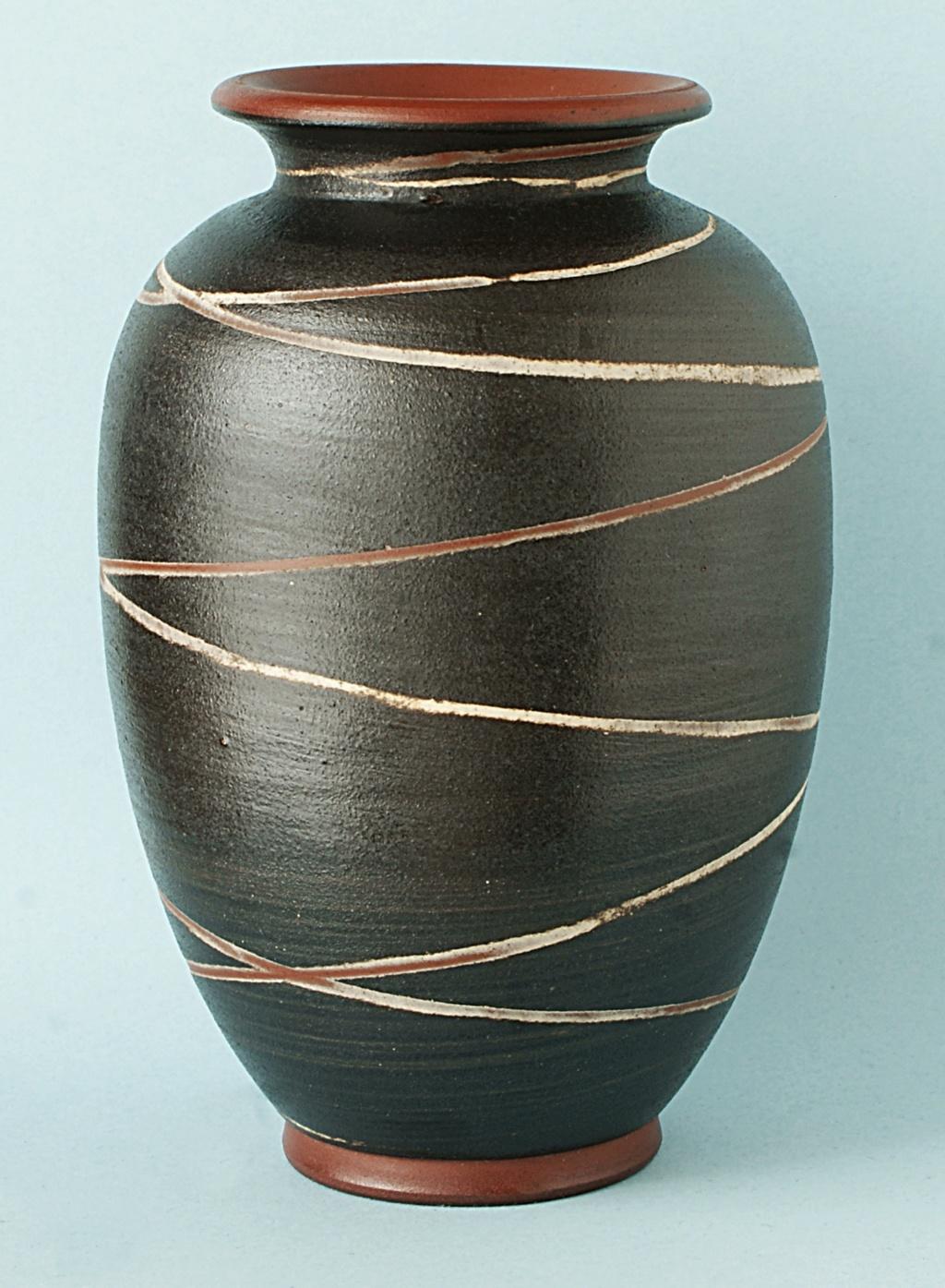 German Pottery Vase: Geseztlich Geschutz.  Dsc04810
