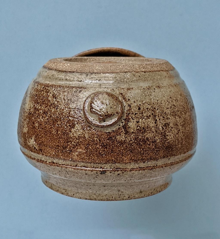 Lidded Pottery Jar, scallop shell mark Pxl_2054
