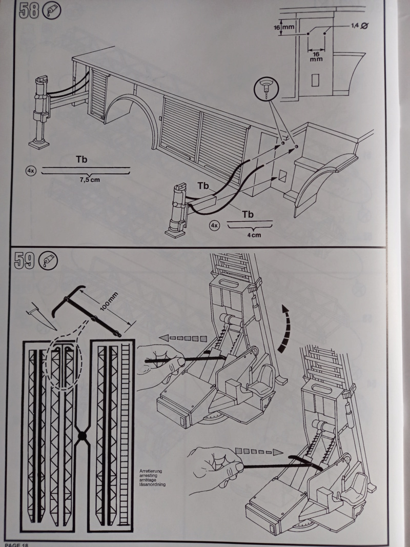 [REVELL] MERCEDES BENZ 1419 F/1422 F DLK 23-12 1/24ème Réf 07504 Edition limité Notice Camio243
