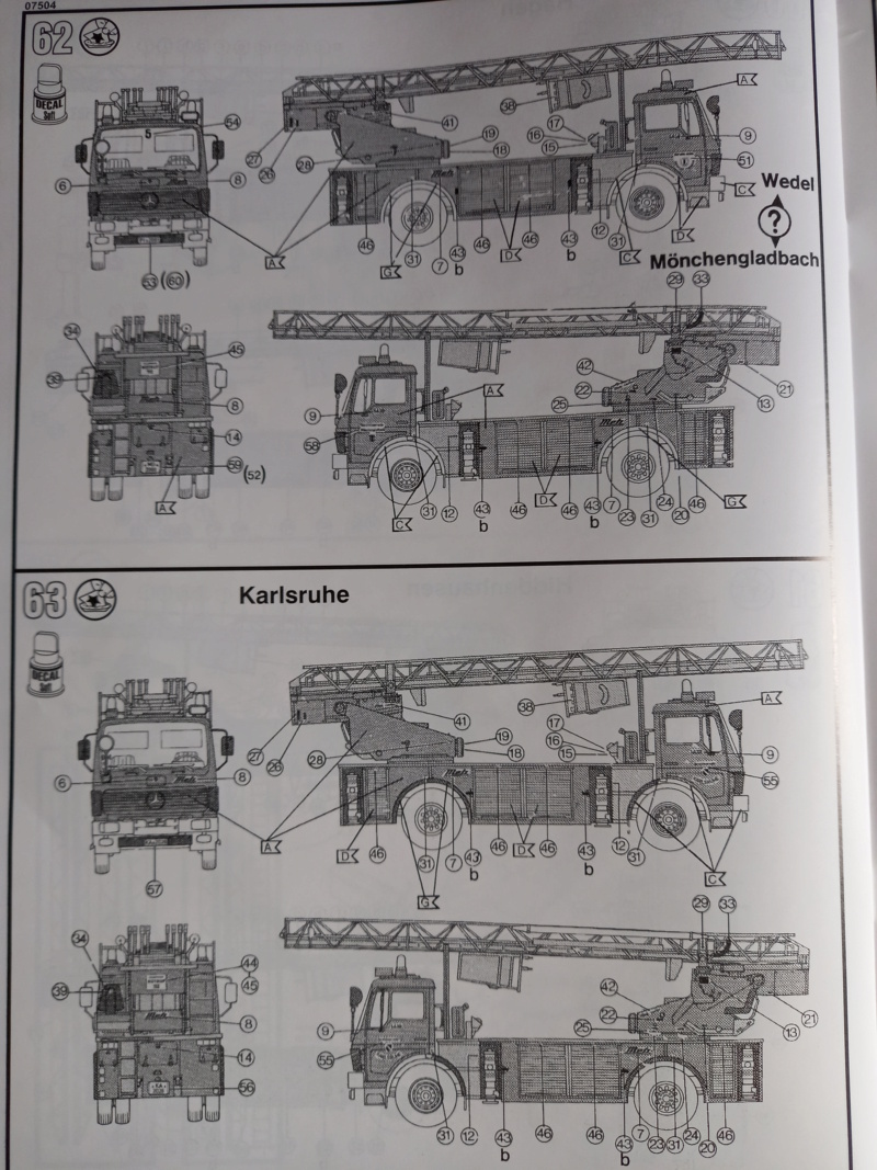 [REVELL] MERCEDES BENZ 1419 F/1422 F DLK 23-12 1/24ème Réf 07504 Edition limité Notice Camio246