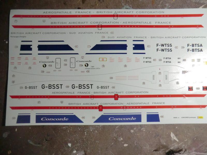 Coffret LA LEGENDE HELLER  CARAVELLE - CONCORDE 1/100ème Réf 52324 Concor21