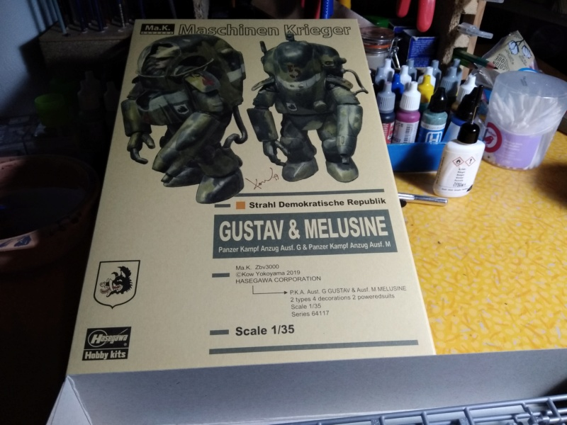 [HASEGAWA] Machine de guerre GUSTAV & MELUSINE 1/35ème Réf 64117 Gustav38