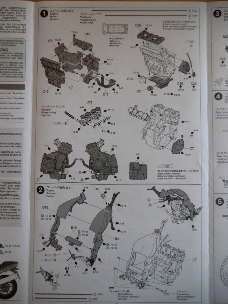 [TAMIYA] KAWASAKI NINJA ZX-14 Tamiya 14112 1/12 Motos_29