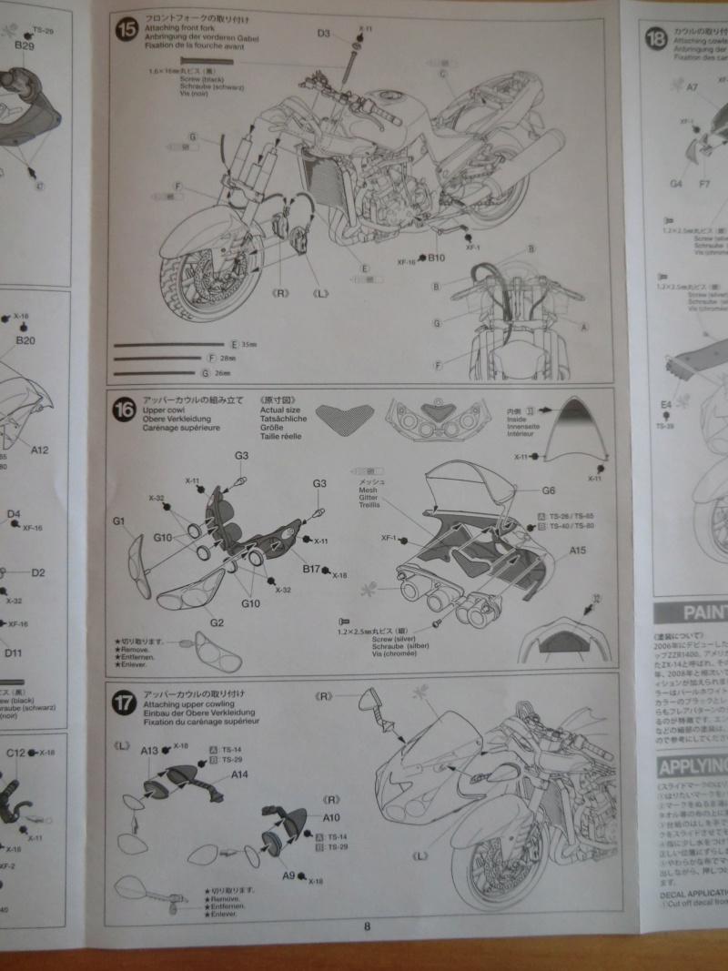 [TAMIYA] KAWASAKI NINJA ZX-14 Tamiya 14112 1/12 Motos_34