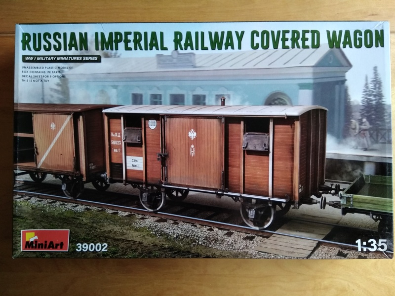 [MINIART] Wagon couvert  RUSSIAN IMPERIAL RAILWAY 1/35ème Réf 39002 Oups_225