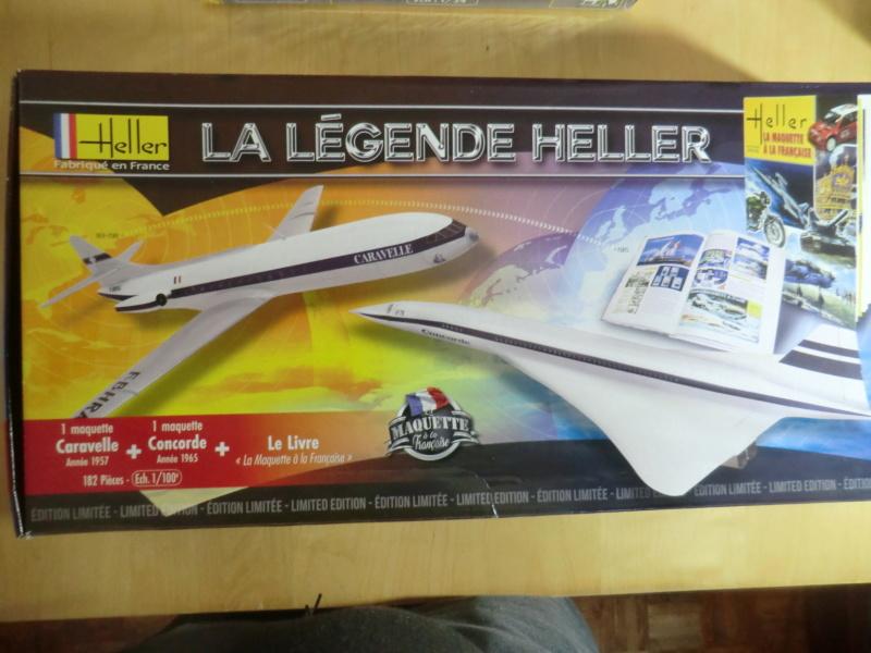 Coffret LA LEGENDE HELLER  CARAVELLE - CONCORDE 1/100ème Réf 52324 Oups_h97