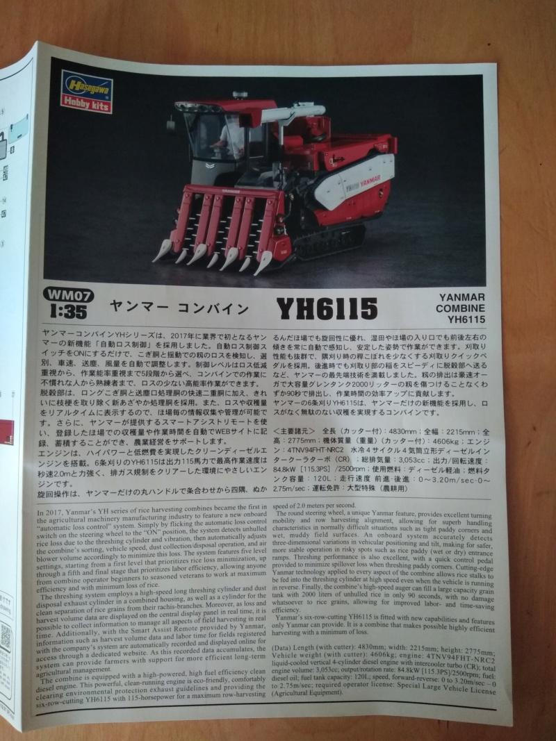 [HASEGAWA] YANMAR YH6115 COMBINE YH6115 1/35ème Réf 66007 Revu_k22