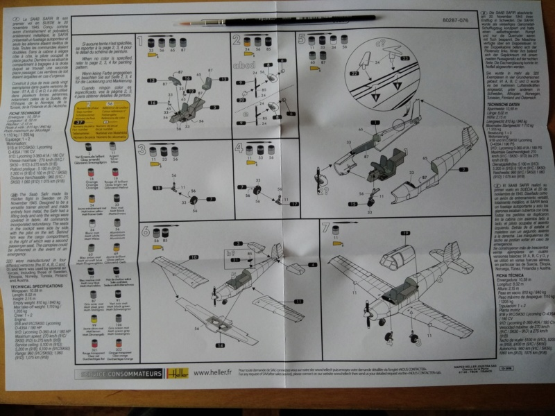 SAAB 91 SAFIR 1/72ème Réf 80287 Notice Saab_023