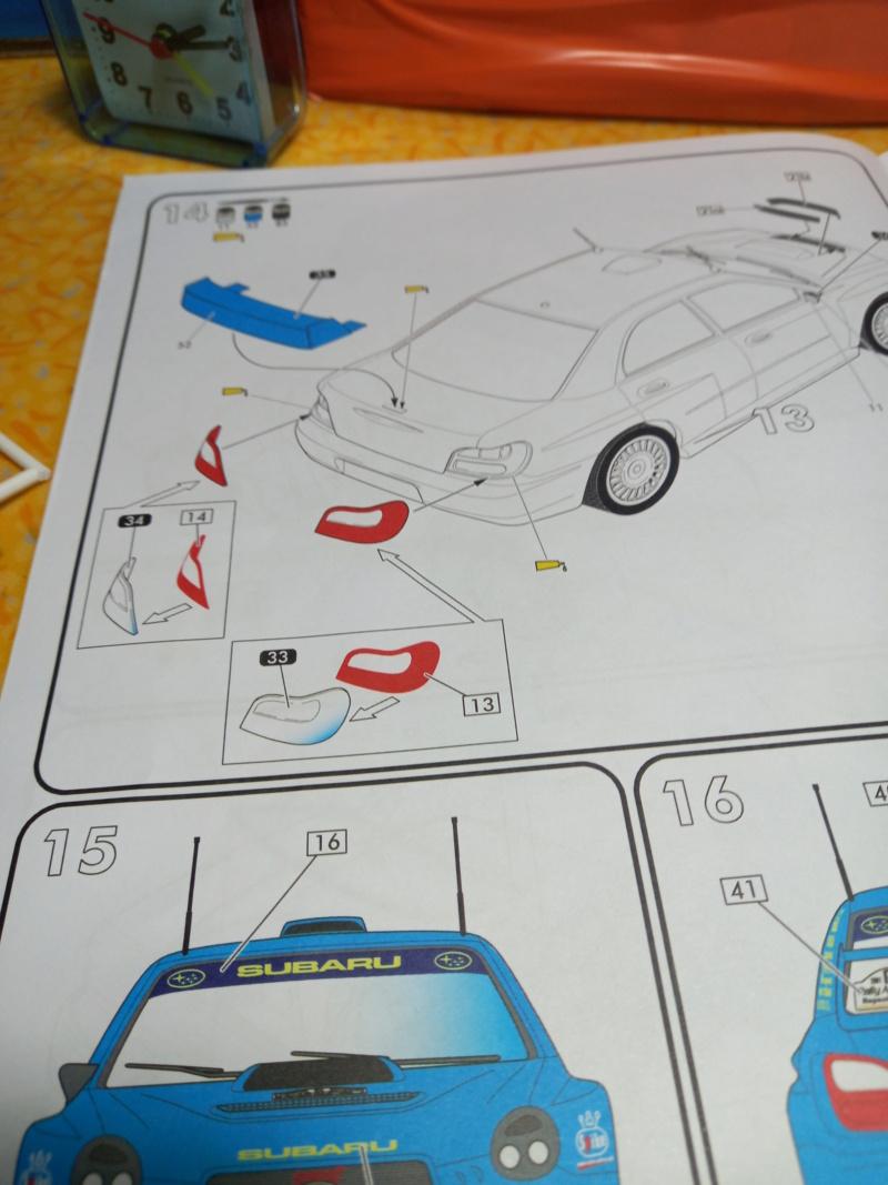 Challenge des 6 ans   SUBARU IMPREZA WRC  1/24 Réf 80761 - Page 3 Subar442