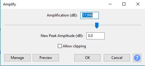"""Traitement de la voix dans Audacity (avoir un effet plus """"pro"""") Amplif10"""