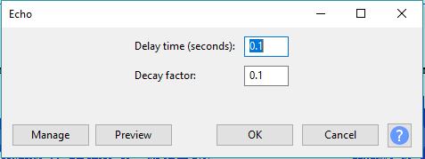 """Traitement de la voix dans Audacity (avoir un effet plus """"pro"""") Echo10"""