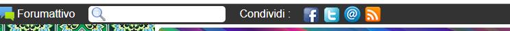 Come < eliminare > la barra nera in alto che si apre ogni volta che si accede ad un Forum ? Toolba10