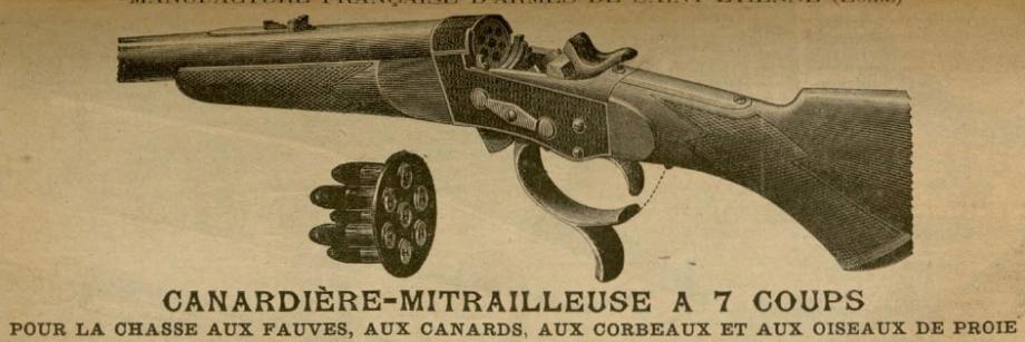 Canardière - Mitrailleuse à 7 coups Manufrance 1890 ??? Catalo10