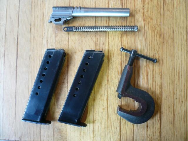 Dérive-guidon arme d'épaule Suisse ... K11 ? K 31 ? P210_c11