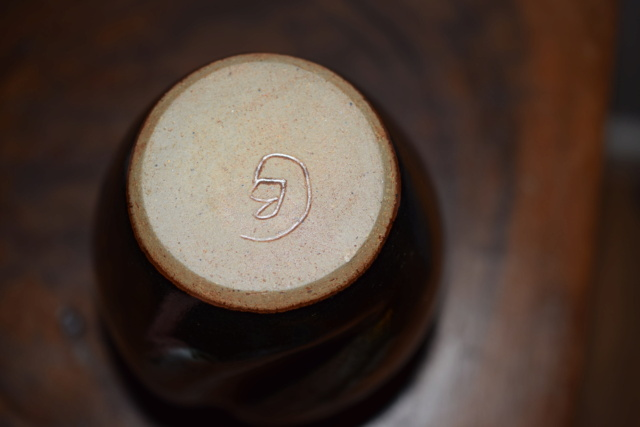 Unknown pottery vase CB or GB mark Dsc_0932