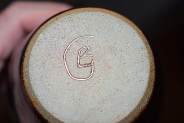 Unknown pottery vase CB or GB mark Dsc_0933