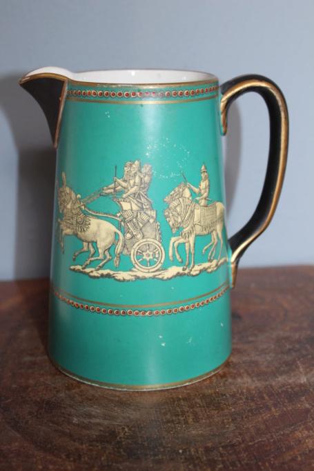 Unmarked Victorian jug with transfer pattern - Probably Fenton Pratt ware Img_4110