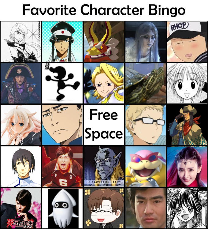 Favorite Character Bingo Fav_ch10