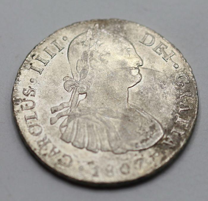 España. Carlos IV (1788-1808). 8 Reales 1807 POTOSÍ* EROSIONES MARINAS * 1110