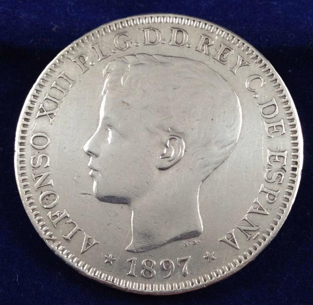 1 peso 1897. Alfonso XIII. Filipinas. MBC+ SG V 119