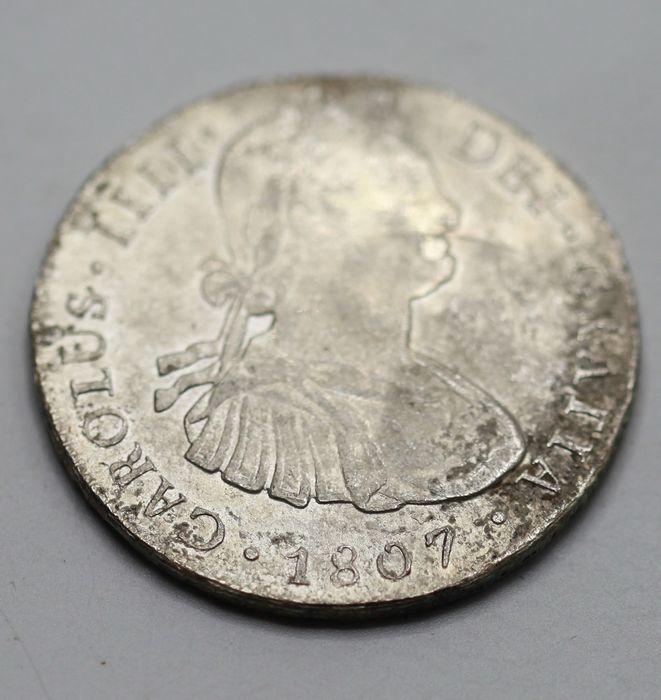 España. Carlos IV (1788-1808). 8 Reales 1807 POTOSÍ* EROSIONES MARINAS * 1211
