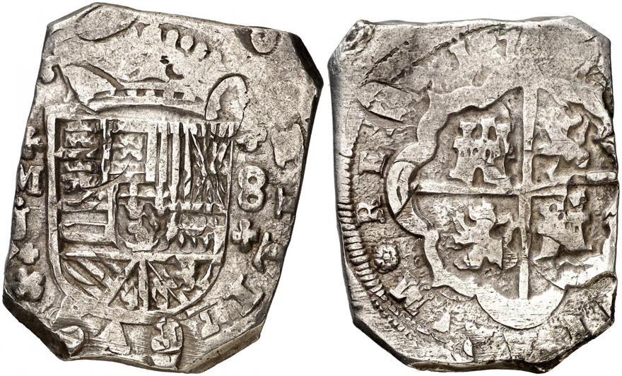 8 REALES FELIPE V 1709 CECA DE MADRID (tipo macuquina) 1709-f11