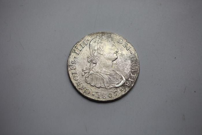España. Carlos IV (1788-1808). 8 Reales 1807 POTOSÍ* EROSIONES MARINAS * 2010