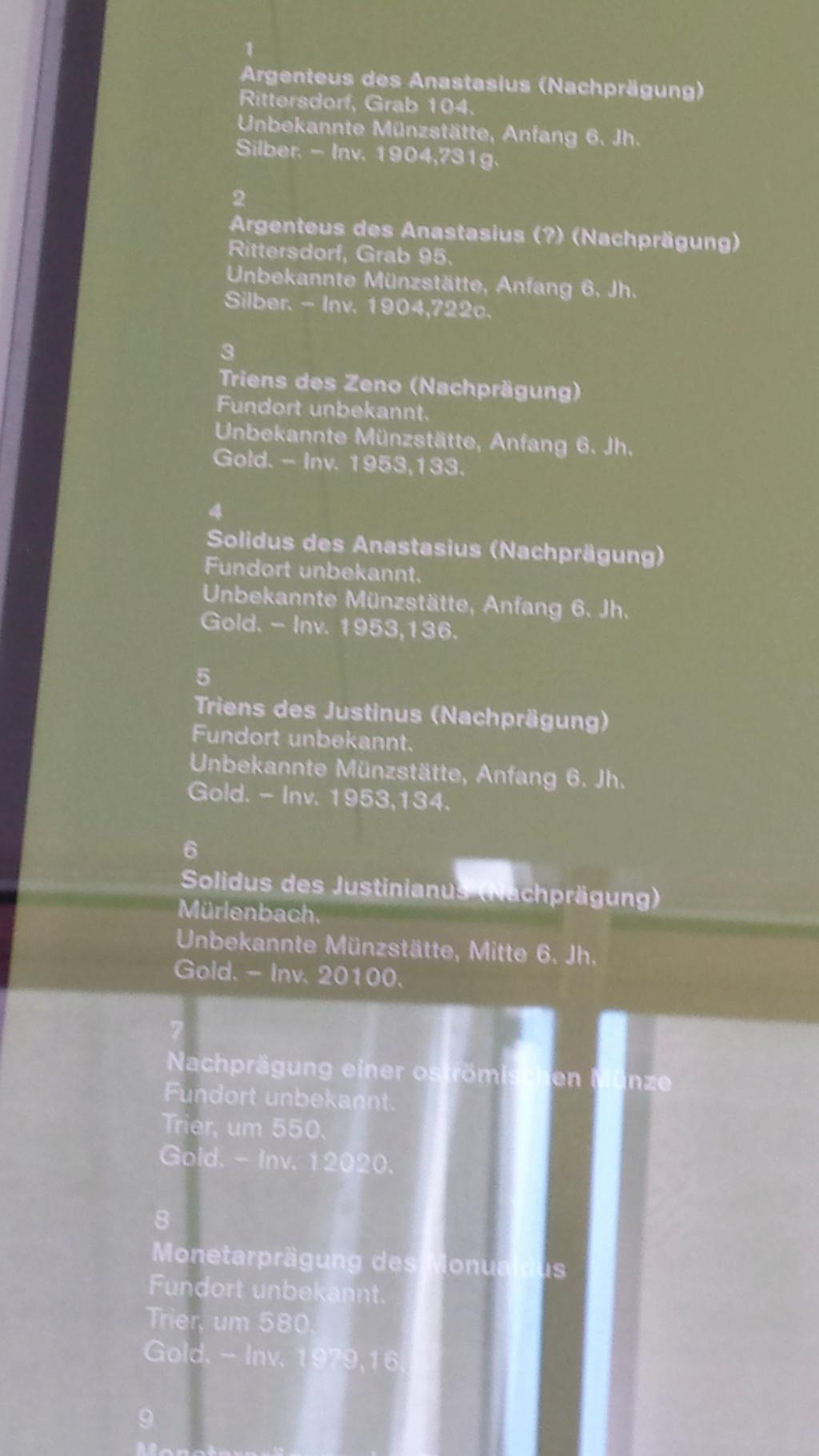 Museo Trier Alemania (seccion numismatica) 20150918
