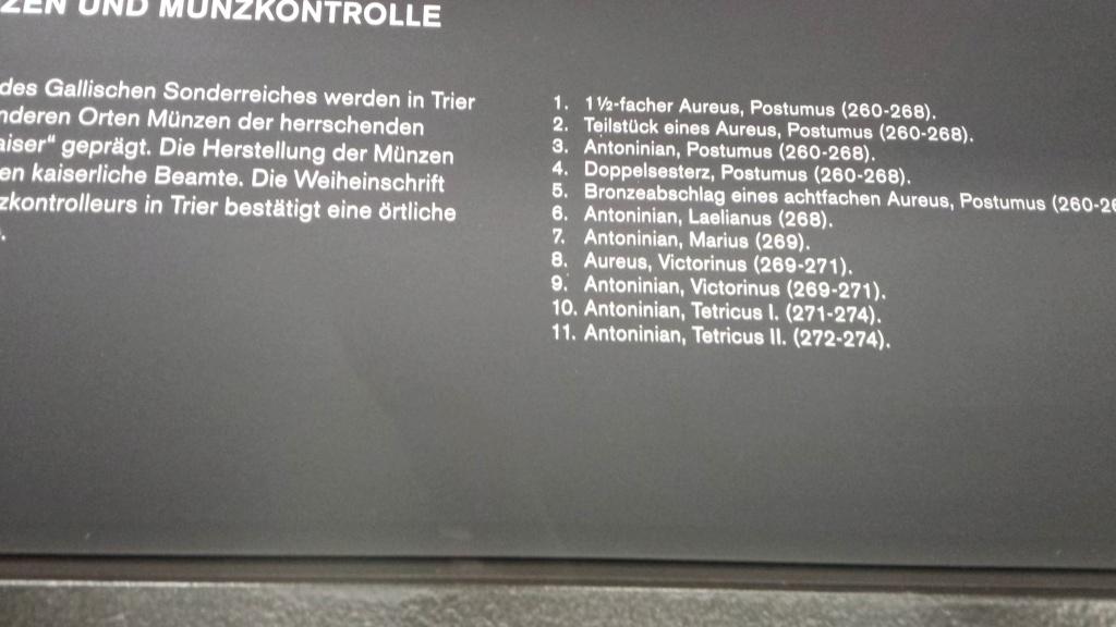 Museo Trier Alemania (seccion numismatica) 20150934