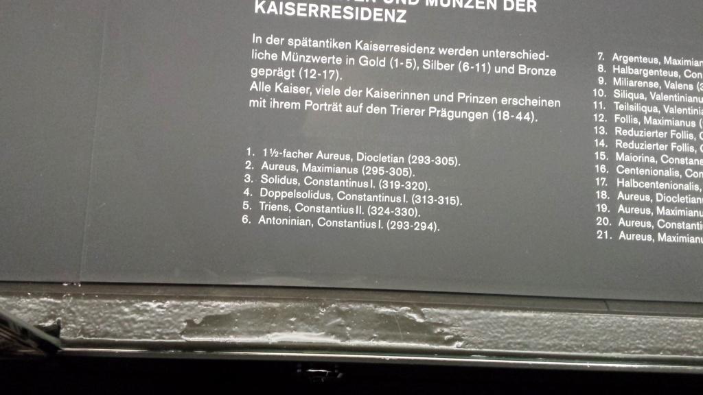 Museo Trier Alemania (seccion numismatica) 20150937