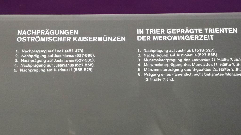 Museo Trier Alemania (seccion numismatica) 2 20150945