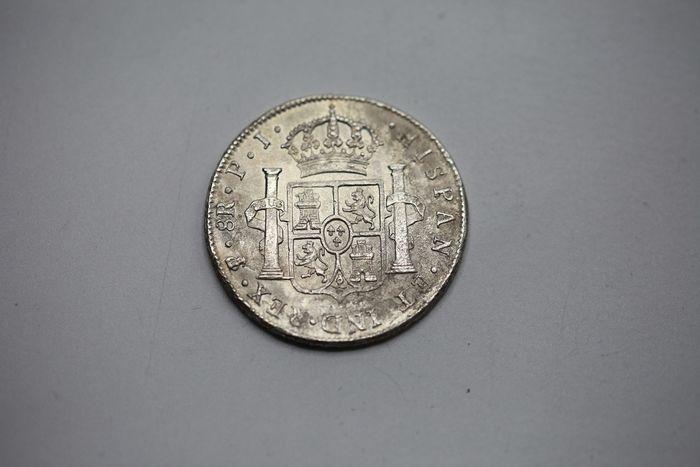 España. Carlos IV (1788-1808). 8 Reales 1807 POTOSÍ* EROSIONES MARINAS * 2110