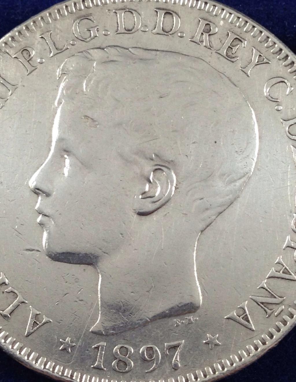 1 peso 1897. Alfonso XIII. Filipinas. MBC+ SG V 218
