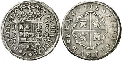 8 reales de Felipe V 1718, Sevilla 25109210
