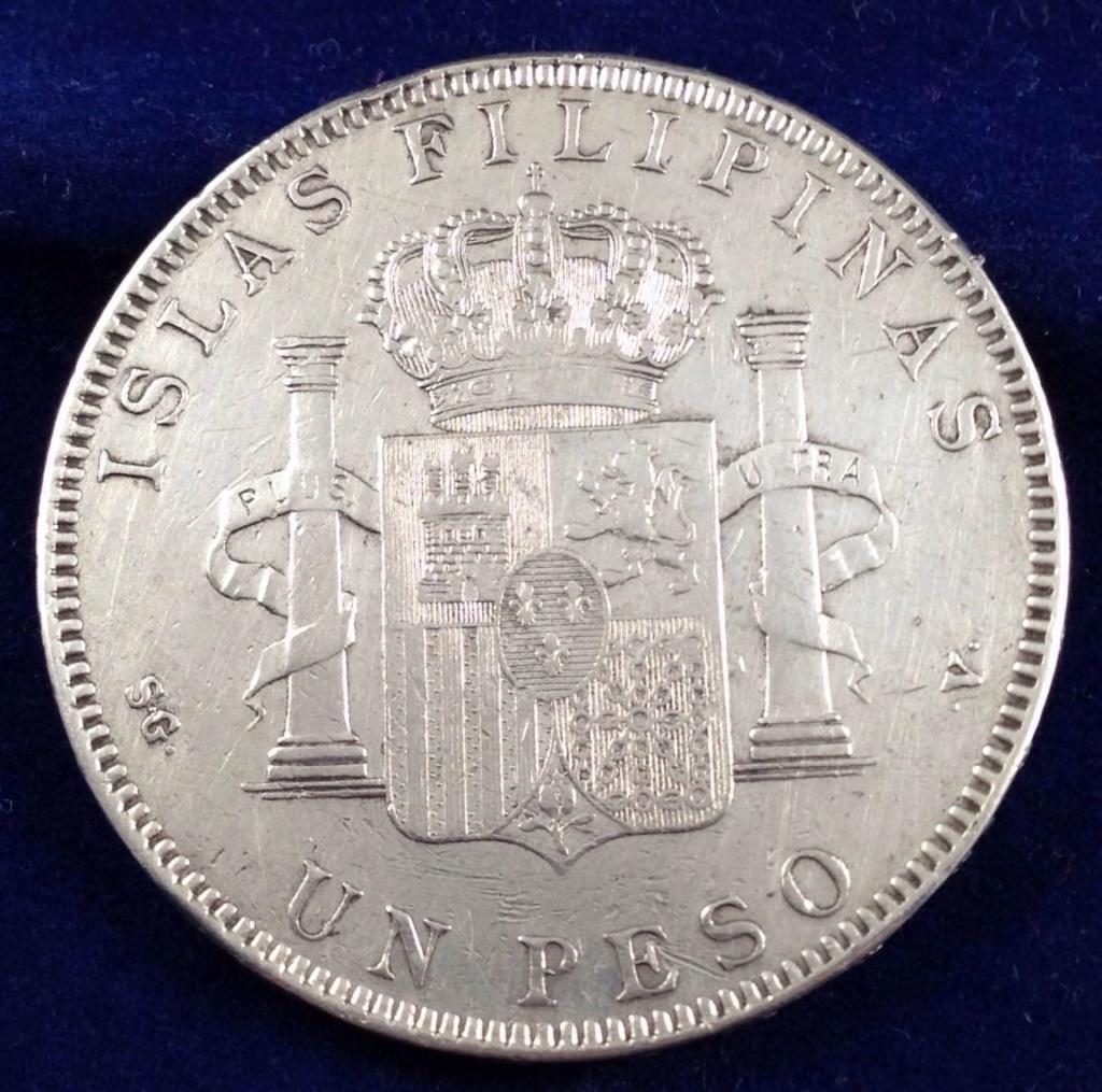 1 peso 1897. Alfonso XIII. Filipinas. MBC+ SG V 312