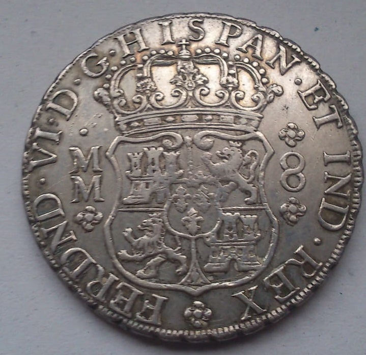8 reales Fernando VI. México. 1758. Columnario. 410