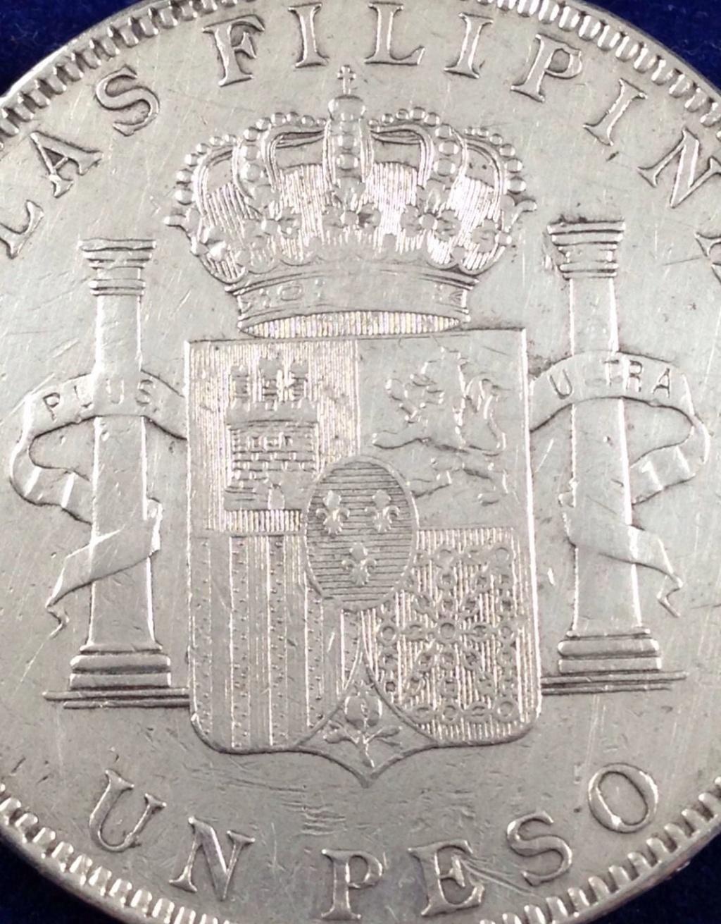 1 peso 1897. Alfonso XIII. Filipinas. MBC+ SG V 412
