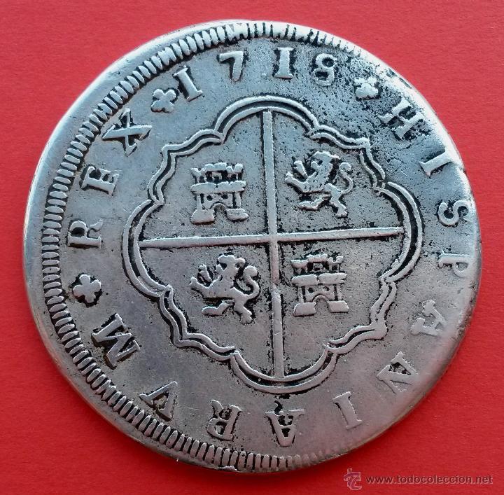 8 reales de Felipe V 1718, Sevilla 42813210
