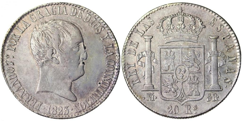 20 reales 1823. Fernando VII. Madrid 48235110