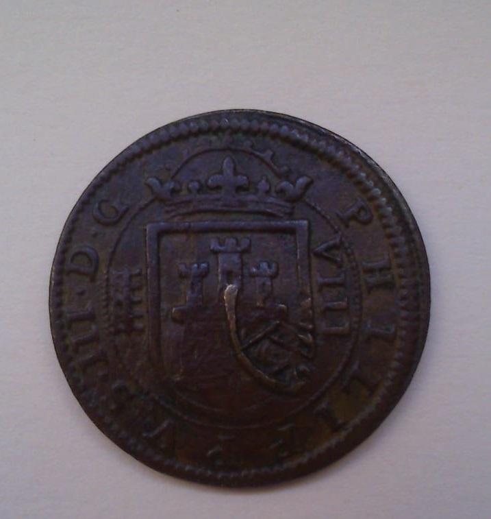 8 MARAVEDÍES FELIE III 1604 CECA DE SEGOVIA Y RESELLO A XII DE GRANADA 49b2c810