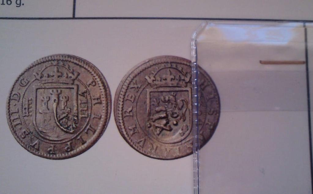 8 MARAVEDÍES FELIE III 1604 CECA DE SEGOVIA Y RESELLO A XII DE GRANADA 4f24fc10